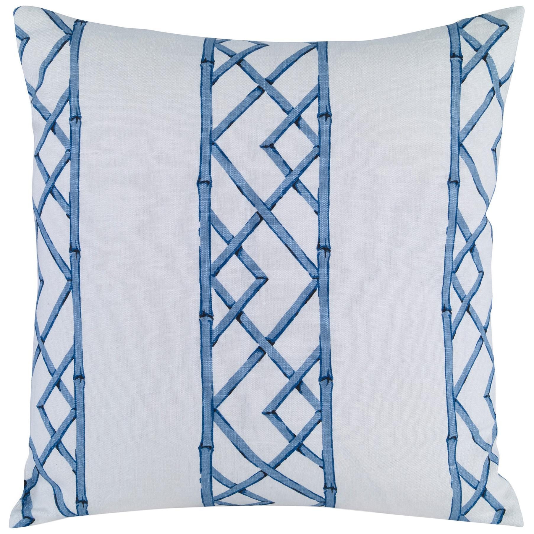 Latticely Pillow in Ultramarine by CuratedKravet