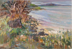 Vintage Chinese Impressionist Hawaiian Seascape Signed Original Oil Painting