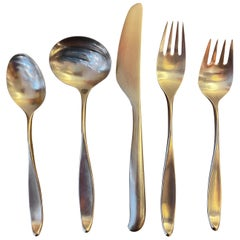 Lauffer Design 2 Designed by Don Wallance Service for 8 Stainless Flatware Set