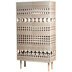 Laulu, Scandinavian Modern Design Wooden Cabinet with Matti Klenell