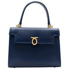 Launer Indigo Judi Leather Tote Bag One size