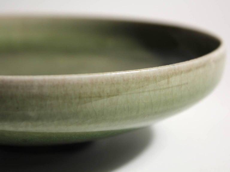Laura Andreson Green Celadon Porcelain Art Pottery Bowl For Sale 2