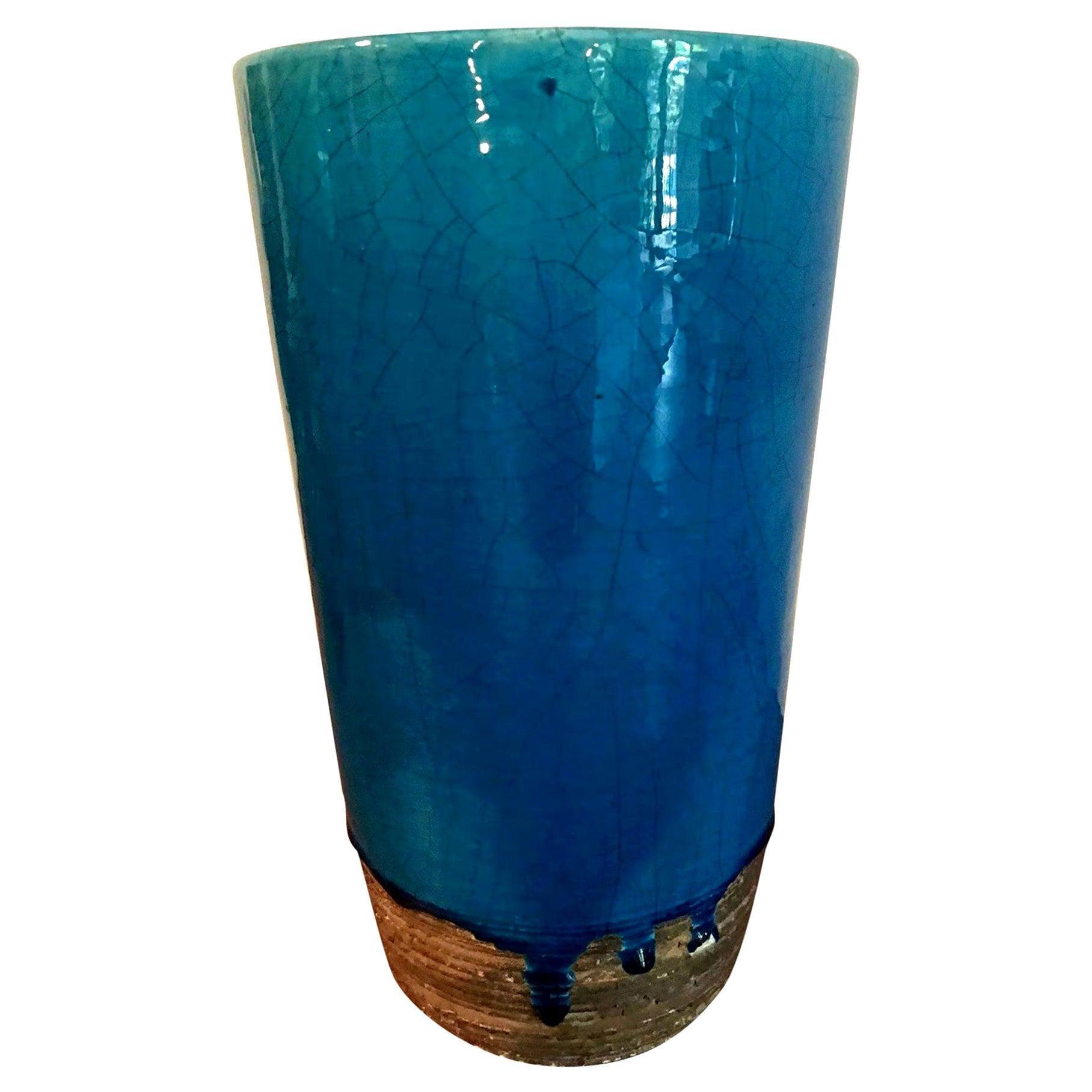 Laura Andreson Large Signed Glazed Mid-Century Modern Ceramic Pottery Vase, 1940