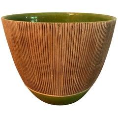 Laura Andreson Large Signed Glazed Midcentury Ceramic Pottery Bowl, 1938