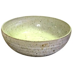 Laura Andreson Signed Large Mid-Century Modern Ceramic Pottery Bowl, 1953