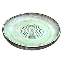 Laura Andreson Signed Large Mid-Century Modern Ceramic Pottery Low Bowl, 1954