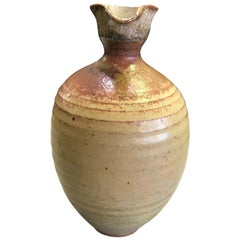 Laura Andreson Signed Mid-Century Modern Ceramic Glazed Pottery Vase