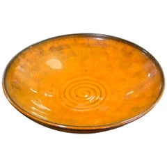 Laura Andreson Signed Red Glazed Mid-Century Modern Ceramic Pottery Bowl, 1951