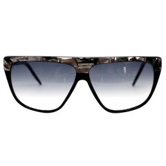 Laura Biagiotti Black and Silver Marbled Vintage Sunglasses