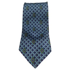 Laura Biagiotti blue multicoloured silk tie