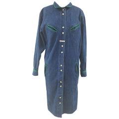 Laura Biagiotti denim long shirt - chemisier