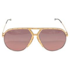 Laura Biagiotti Gold Oversize Sunglasses