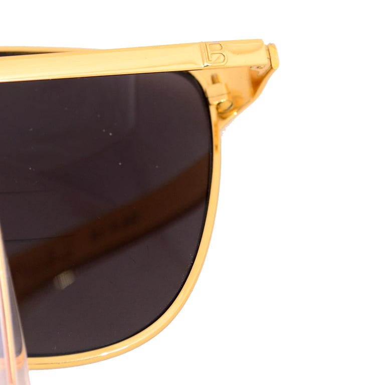 Laura Biagiotti Gold Rim Vintage Sunglasses Frames For Sale 6