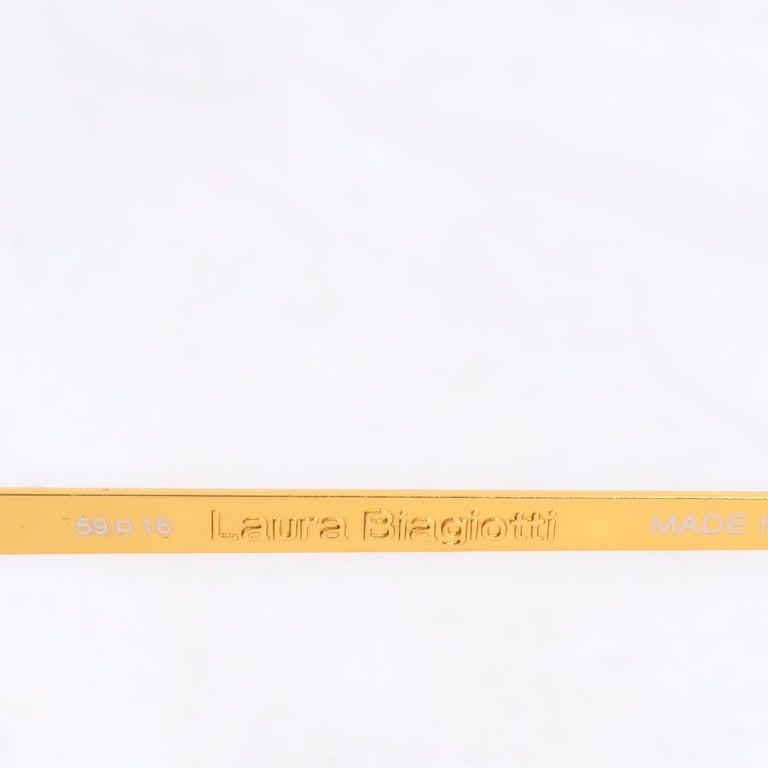 Laura Biagiotti Gold Rim Vintage Sunglasses Frames For Sale 8