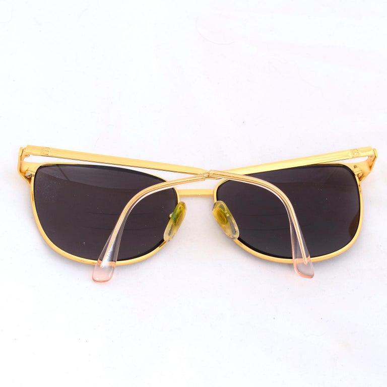 Laura Biagiotti Gold Rim Vintage Sunglasses Frames For Sale 2