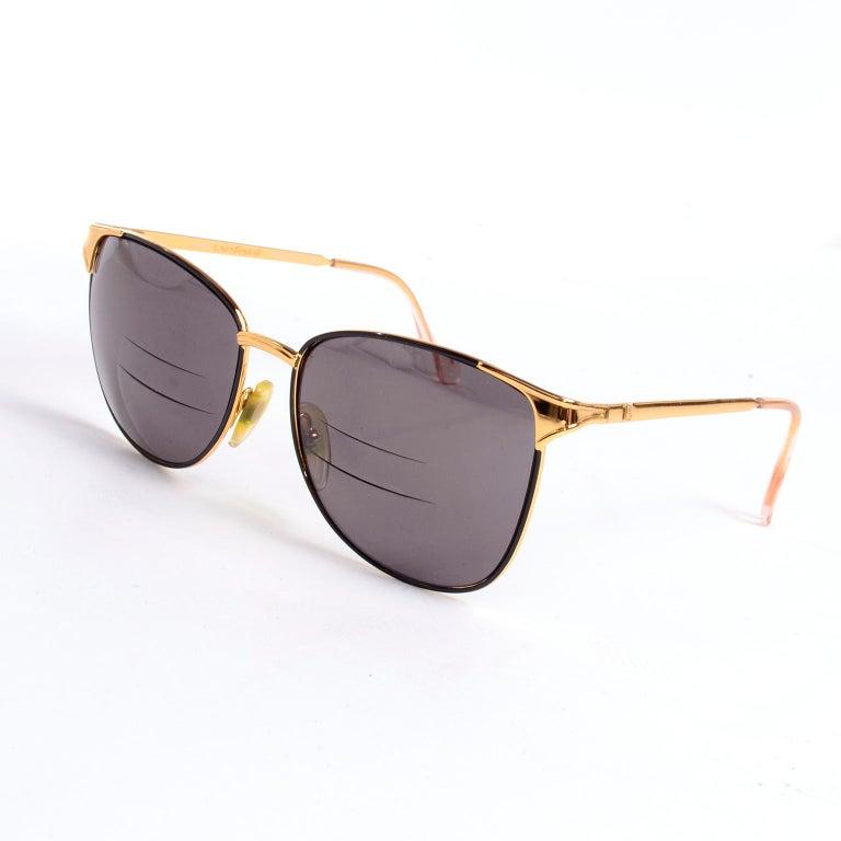 Laura Biagiotti Gold Rim Vintage Sunglasses Frames For Sale 4