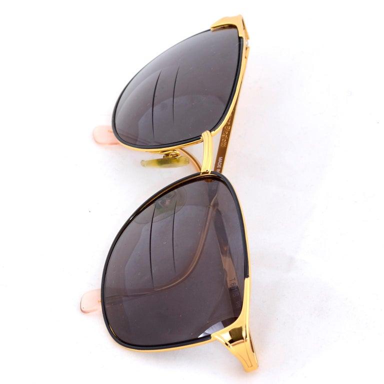 Laura Biagiotti Gold Rim Vintage Sunglasses Frames For Sale 5