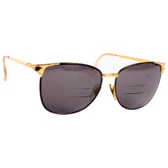 Laura Biagiotti Gold Rim Vintage Sunglasses Frames