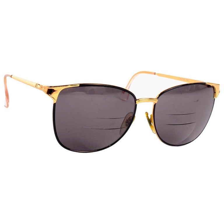 Laura Biagiotti Gold Rim Vintage Sunglasses Frames For Sale