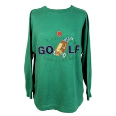 Laura Biagiotti Green Cotton Vintage Sweater