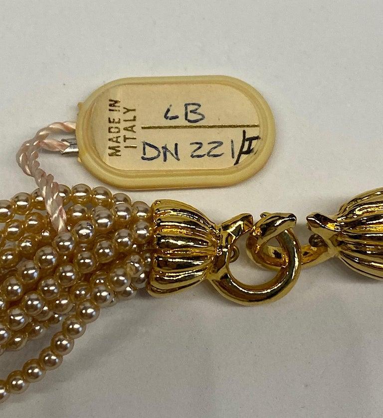 Laura Biagiotti Multi Strand Pearl Torsade Necklace, 1980s For Sale 10