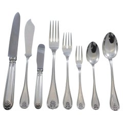 Laura by Buccellati Italy Sterling Silver Flatware Set 8 Service 64 Pcs Dinner