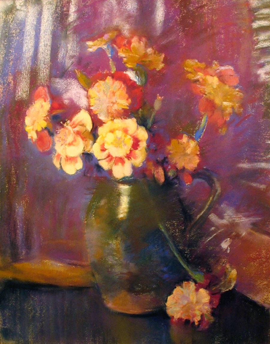 Still Life with Flowers in an Earthenware Jug