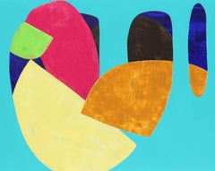 """""""Deep"""" - Colorful Non-Objective Painting - Bold Shapes - Sonia Delaunay"""