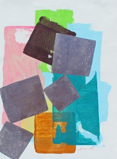 """""""Four Seasons"""" - Colorful Non-Objective Painting - Bold Shapes - Sonia Delaunay"""