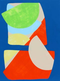 """""""Planted"""" - Colorful Non-Objective Painting - Bold Shapes - Sonia Delaunay"""