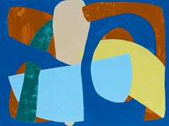 """""""Rooted"""" - Colorful Non-Objective Painting - Bold Shapes - Sonia Delaunay"""