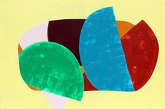 """""""Sprung"""" - Colorful Non-Objective Painting - Bold Shapes - Sonia Delaunay"""