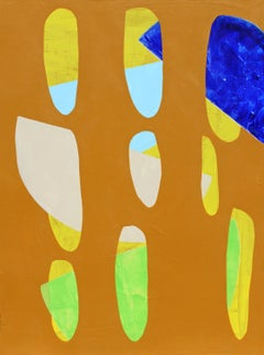 """""""Vined"""" - Colorful Non-Objective Painting - Bold Shapes - Sonia Delaunay"""