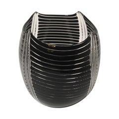 Laura de Santillana Murano Glass Italian Vase Model Diavolo Eos