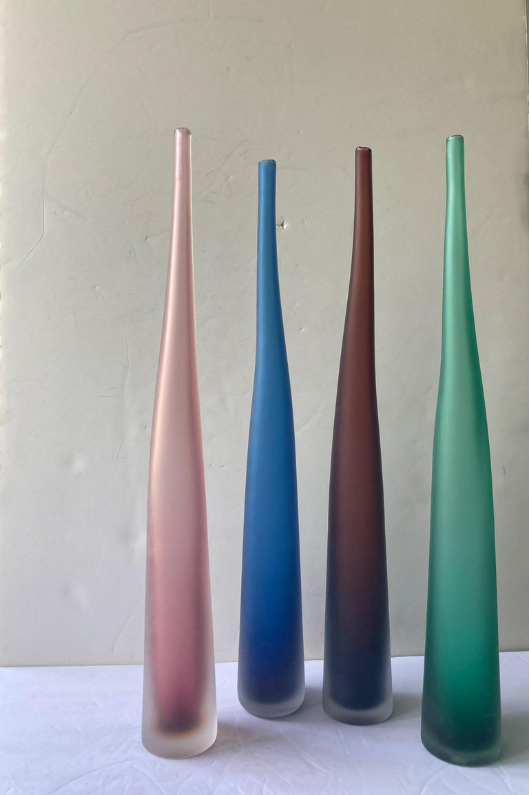 Hand-Crafted Laura de Santillana, Small Collection of Murano Glass Bottles/Vases, by Arcade For Sale