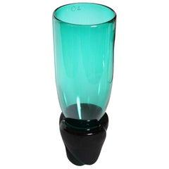 "Laura Diaz de Santillana ""Munchen"" 2-Piece Blown Glass Vessel for Venini Murano"