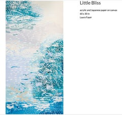 Laura Fayer - Little Bliss - acrylic paint & Japanese paper on canvas