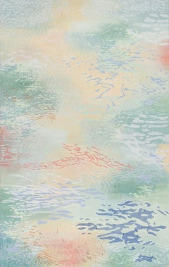 Laura Fayer - Sky River - acrylic paint and Japanese paper on canvas