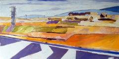 Street 01, Painting, Oil on Wood Panel
