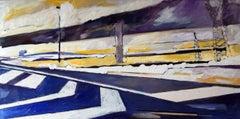 Street 03, Painting, Oil on Wood Panel