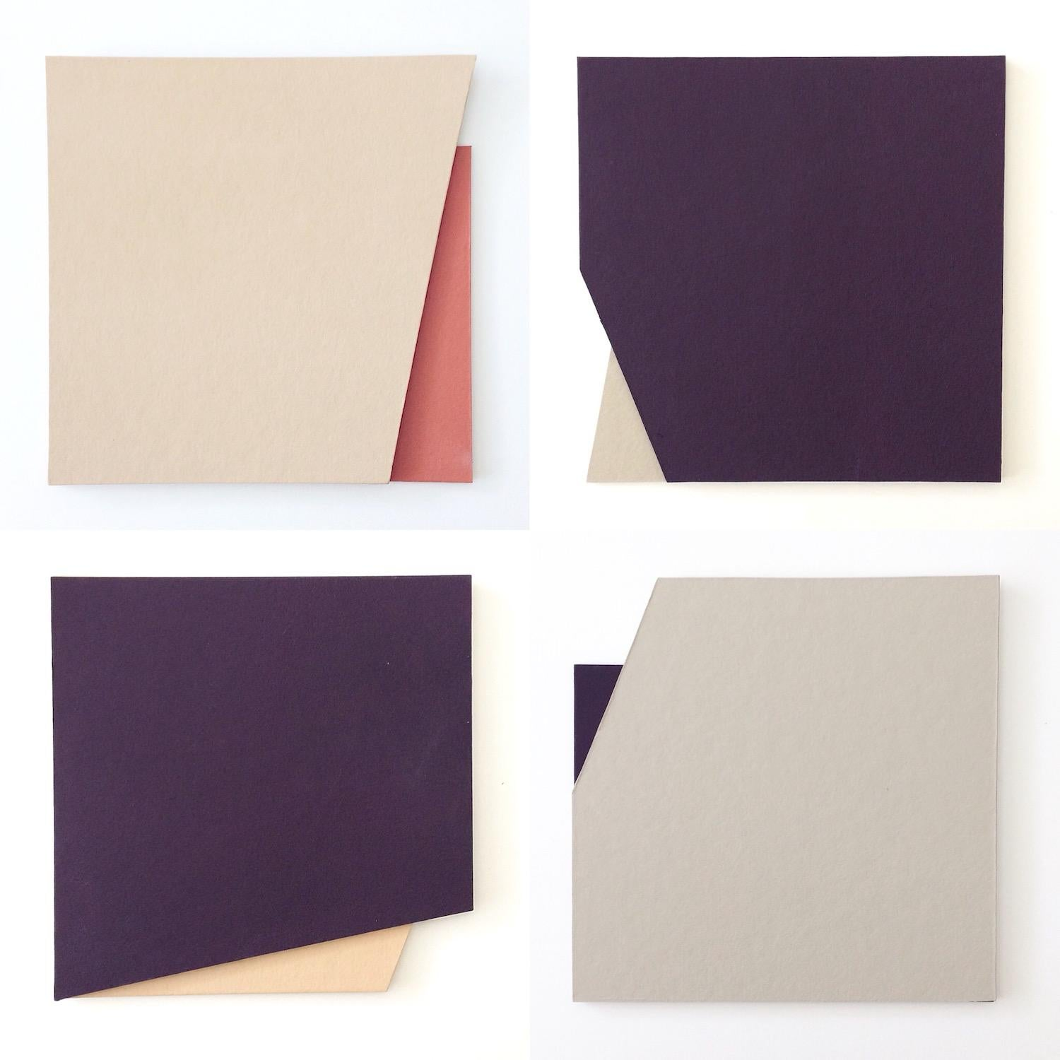 'Cut-out 20': Four Minimal Hard Edge Abstract Paintings by Laura Jane Scott