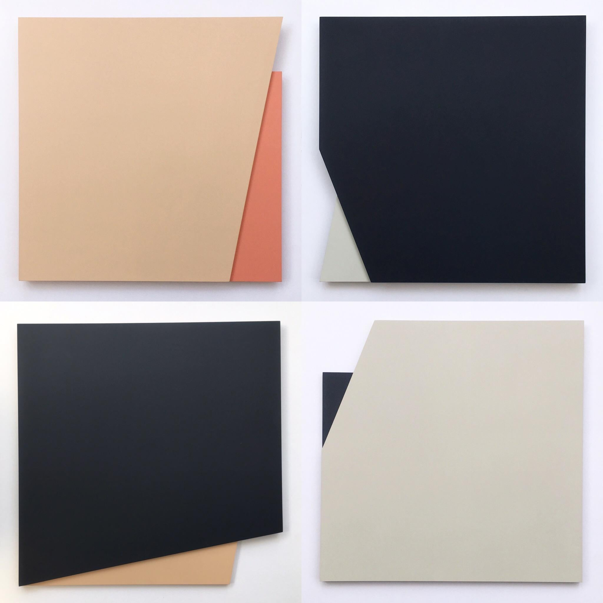 'Cut-out 50': Four Minimal Hard Edge Abstract Paintings by Laura Jane Scott