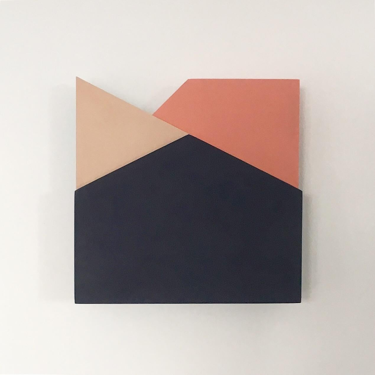 'Perspective Study 005': A Sculptural Abstract Painting by Laura Jane Scott