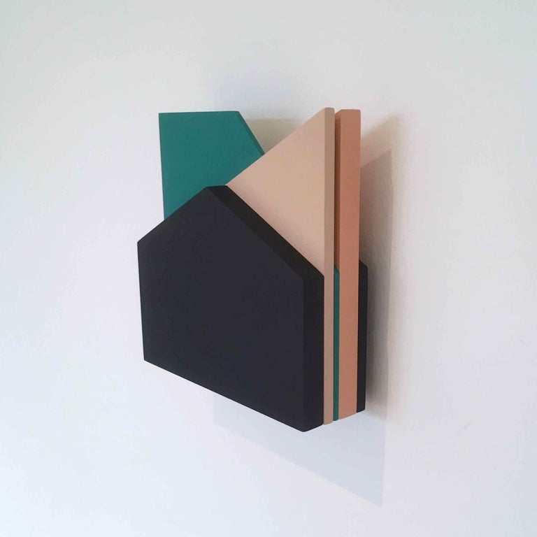 'Perspective Study 006': A Sculptural Abstract Painting by Laura Jane Scott For Sale 1