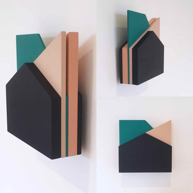'Perspective Study 006': A Sculptural Abstract Painting by Laura Jane Scott For Sale 5