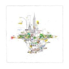 Central Park, New York, Detailed Cityscape, Illustrative Art, NYC Art, BrightArt