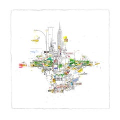 Central Park, New York, detailed cityscape limited edition print