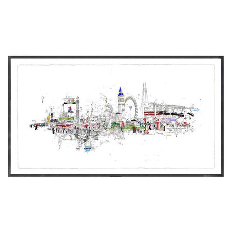 Scandal in the background - Laura Jordan large limited edition print London  - Print by Laura Jordan