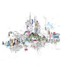Tokyo Lights, contemporary cityscape