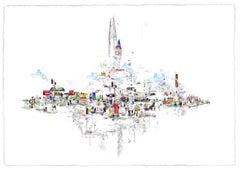 We are London Landscape, contempoary cityscape screen print